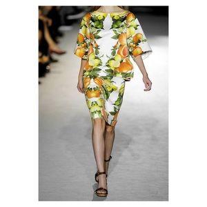Stella McCartney Citrus Print Silk Shirt Size 42